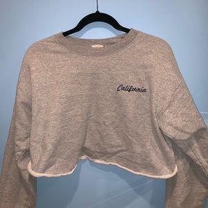 Brandy cropped sweatshirt